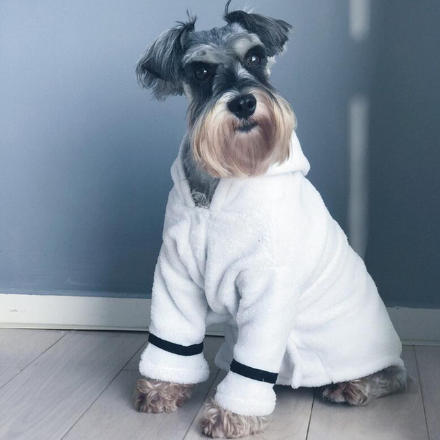 Hot Newest Pet Bathrobe Coral Cashmere Thickened Pet Hoodie Nightgown Pajama Dog Bathrobe Super Absorbent Towel for Dogs