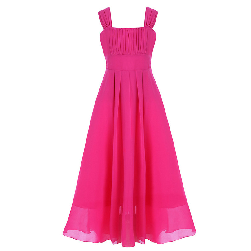Flower Girl Dress Princess Pageant Party Wedding Bridesmaid Chiffon Gown Prom