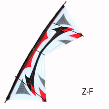 Profesional Outdoor Fun Sports 100Inches Four-Line Stunt Kite Mudah Flying Power Kites Sukan Dengan Alat Terbang