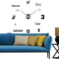 3D DIY Clock Room Interior Decoration Clock Decal Home Deco Shipping XG