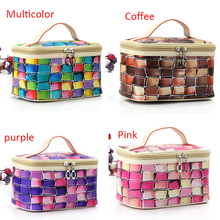 2017 Portable Large Capacity Women Makeup Bag Cosmetics PU Leather Travel Case Waterproof Cases Free Shipping High Quality P366