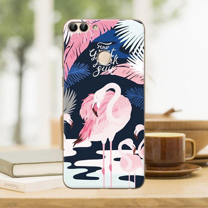 Русалка Новый Фламинго милые Живопись чехол мягкий силиконовый для huawei P Smart Fundas чехол для Coque huawei P Smart + подарок