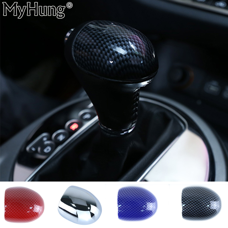 Car Styling Auto Accessories Fit For <font><b>Kia</b></font> Sportage R Car Gear Shift Knob Decoration Cover Carbon Abs With Mirror Surface 1Pc