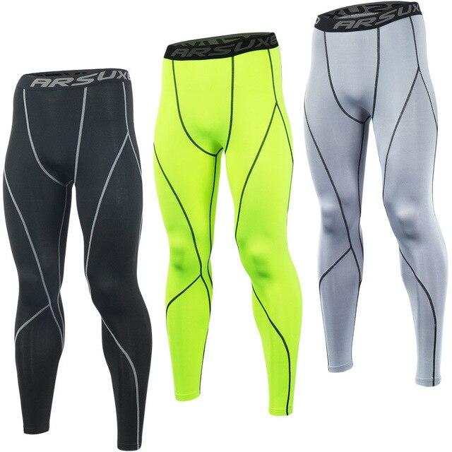 Arsuxeo K3 Hommes Compression Collants Running Bodybuilding Fitness Yoga  VTT Vélo Vélo Pantalon Sports Base Sous ce888e109b4