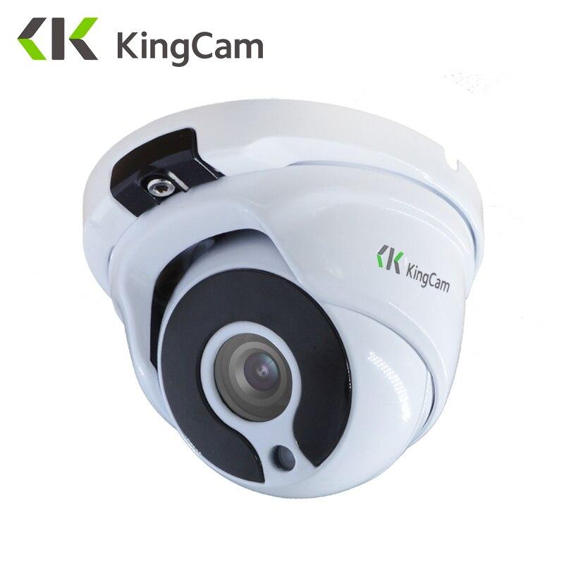 KingCam Metal Anti-vandal  POE IP Camera 2.8mm Lens Wide Angle 1080P 960P 720P Security ONVIF CCTV Surveillance 6mm Dome IP Cam
