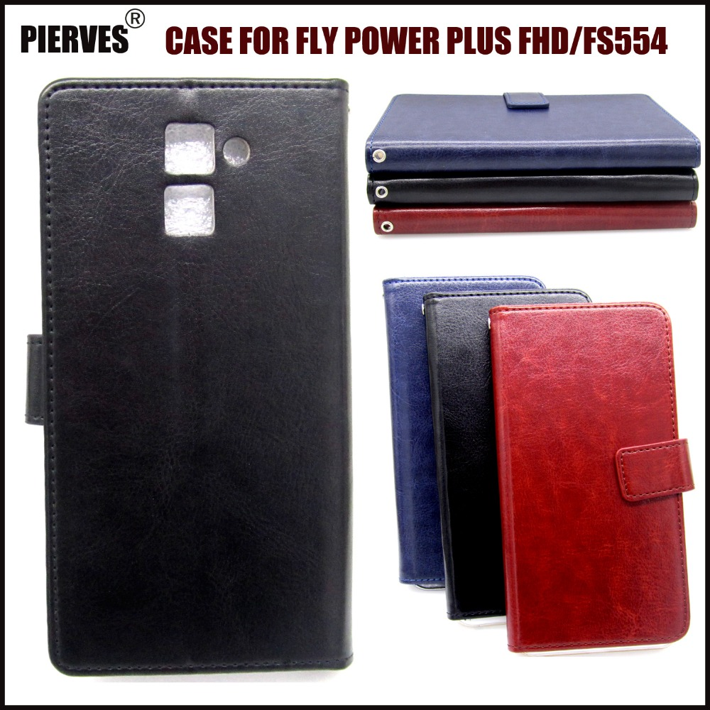 Casteel R64 Series high quality PU skin leather case For FLY Power Plus FHD FS554 Case Cover Shield image