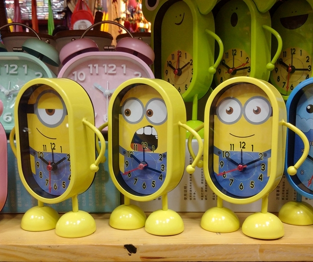 US $29 98 |Newest Cute Minion Alarm Clock Despicable me style toy desk  cartoons metal clock GIft for kids free shipping-in Alarm Clocks from Home  &