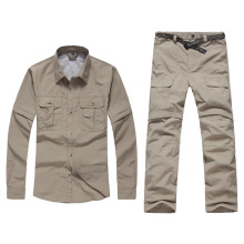 Quick Dry Fishing Clothing Men Women Breathable Summer Autumn Outdoor Sports Fishing Shirt Short Long Sleeve Detachable Clothing