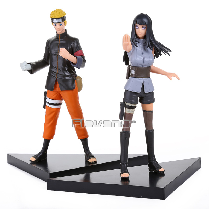 <font><b>Naruto</b></font> <font><b>Uzumaki</b></font> <font><b>Naruto</b></font> <font><b>Hyuuga</b></font> <font><b>Hinata</b></font> <font><b>PVC</b></font> Action Figures Collectible Model Toys 2pcs/<font><b>set</b></font> NTFG083