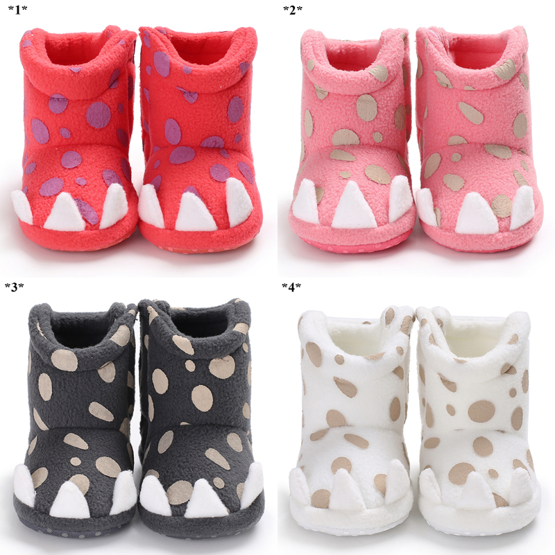 Baby Shoes Winter Neonatal Girl Bows Multi-color Spots Red Toddler Slippers Bed Shoes Ankle Warm Wind Design First Walk Xz21 Fashionable Patterns Mother & Kids