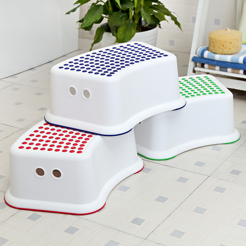 Multifunction children bathroom stool slip resistant step pads anti skid headblock foot pedal Bathroom step stool for kids