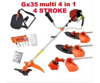 4 stroke GX35 engine 5 in 1 Petrol Hedge Trimmer Chainsaw trimmer Brush Cutter Extend Garden Tool 5pcs petrol snap in primer bulb fuel for chainsaws blowers trimmer carburetor