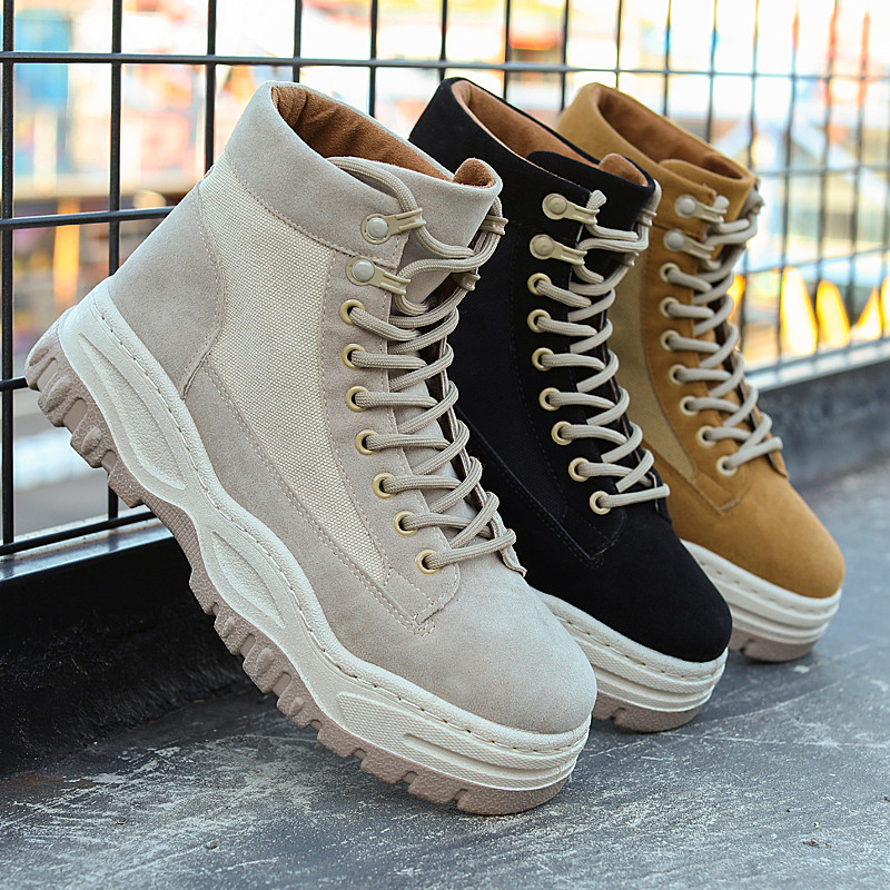 Men's Snow Boot Fashion Casual Shoes For Men Solid Ankle Work Boot Outdoor Autumn Inside Anti-skid Bottom Keep Warm Walking Boot