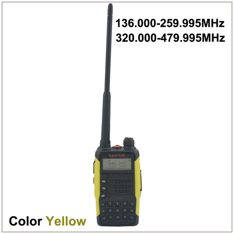 Dual Band FM Portable Two-way Radio YANTON GT-03 TX & RX Both From 136.000-259.995MHz & 320.000-479.995MHz  Color Yellow