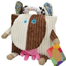 Ropa suave escuela morral del bebé Bebé juguetes orangután rana vaca owl animal de la historieta Infantil del niño del Cabrito regalo de peluche de felpa muñeca