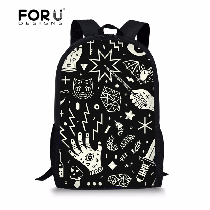 562dbf335d6d FORUDESIGNS SpellBound Witchcraft Ouija Crafty Printing School Backpack for Girls  Kids Backpack Teenager Students Bookbag Cat