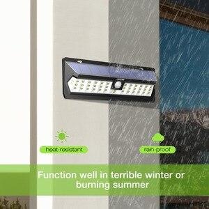 Image 3 - 2 Pcs Mpow 42 LED Motion Sensor Solar Light Wall Lamp 3 Adjustable Sensor Lighting Time Weatherproof Luz Solar Led Para Exterior
