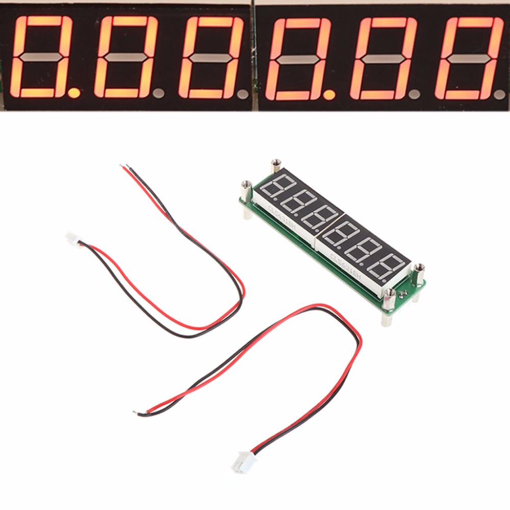 Red LED 6 Digits 0.1MHz-65MHz Frequency Counter Digital Cymometer Tester Meter Test Tools