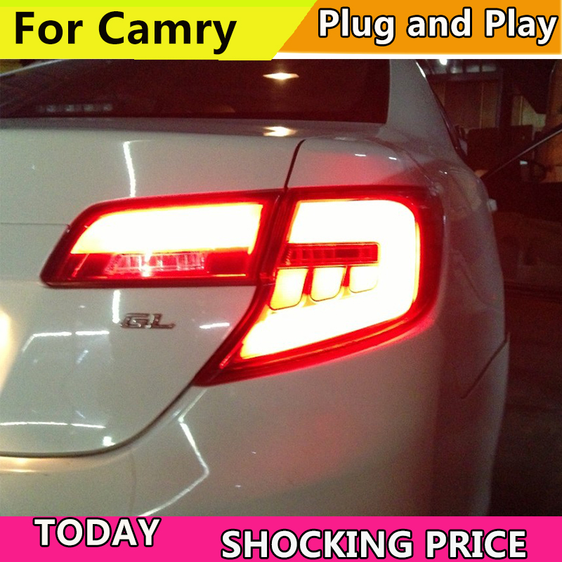 все цены на Car Styling For toyota camry 2012 2013 2014 Middle East Tail lamp rear Taillights Rear Lamp DRL+Turn Signal+Brake+Reverse