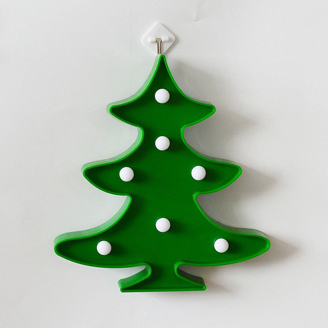 lumiparty 3d led night lights marquee sign light battery christmas tree led lamp tree smart sign