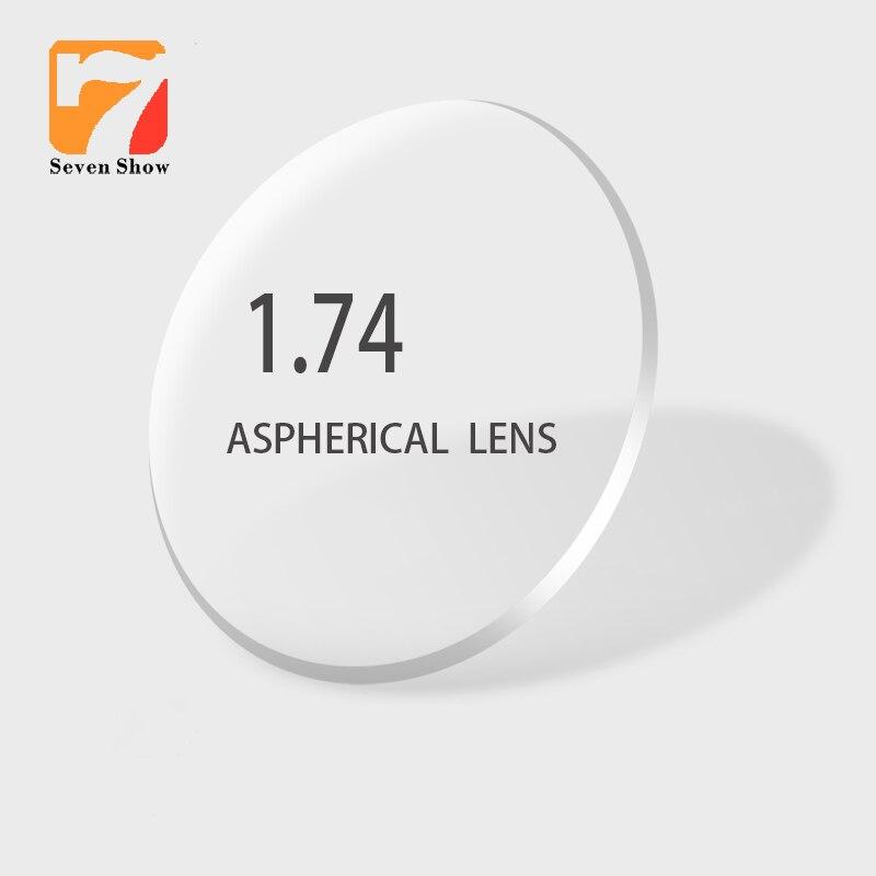 1.74 lentilles de Prescription optiques asphériques minces Ultra minces à indice élevé lentilles de myopie lentilles optiques protection UV Anti-rayonnement