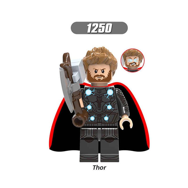 Single Sale Legoinglys Super Heroes Avengers 4 Endgame Mini Figure Thor Captain Marvel Bricks Learning Toys For Children Gifts