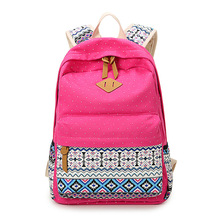 Мода Повседневная женская Dot Печати Холст Рюкзак Женщины Девушка Леди школьный рюкзак для путешествий Сумка