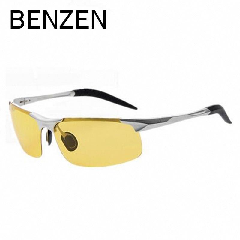 BENZEN Nachtsichtbrille Herren Legierung Gelbe Linsen - Bekleidungszubehör - Foto 5