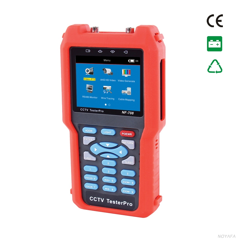 CCTV moniteur testeurs CVBS signal câble testeur tracker avec multi-système couleur bar vidéo générateur NOYAFA NF-708