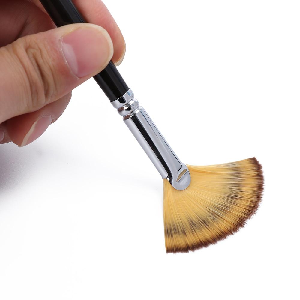 Fan Brush Pen Set Wooden Handle Acrylic Water Oil  PaintingPY
