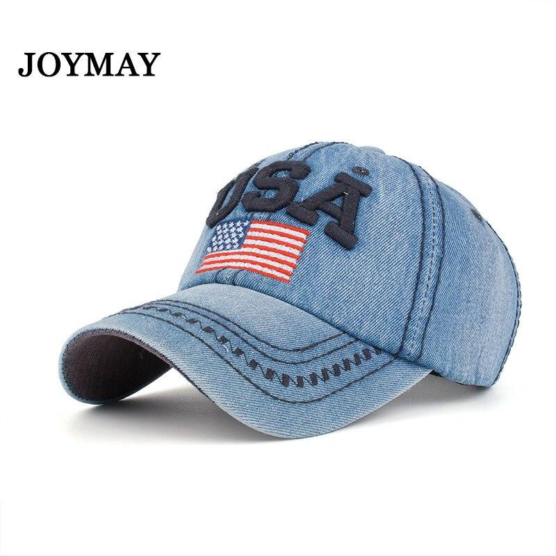 JoymayNew arrival high quality snapback cap cotton baseball cap USA flag embroidery hat for men women unisex cap B351