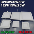 3W 4W 6W 9W 12W 15W 25W AC85~265V Cold white/warm white LED Ceiling LED Downlights Square Panel Lights Bulb SMD2835 High quality