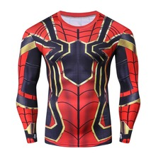 Iron spider Spiderman 3D Printed T shirts Men Compression Shirts 2018 NEW Crossfit Tops Male Cosplay