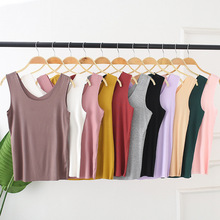 Double Wear Women Seamless Tank Solid Sleeveless sexy top T shirts Fashion Cotton Tshirt Cute Geek T-shirt Female Summer