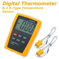 Digital Thermometer 2K Type Scientific Temperature Sensor HVAC Hygrometer Tool Measurement Analysis Instruments Meter