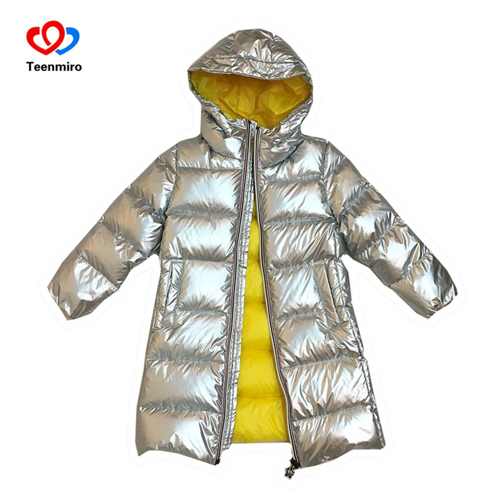 2018 Winter Children Long Jackets for Boys 90% White Duck Down Snow Wear Girls Outerwear Thick Waterproof Down Coat Kids Parka 90 160 down jackets for children boys