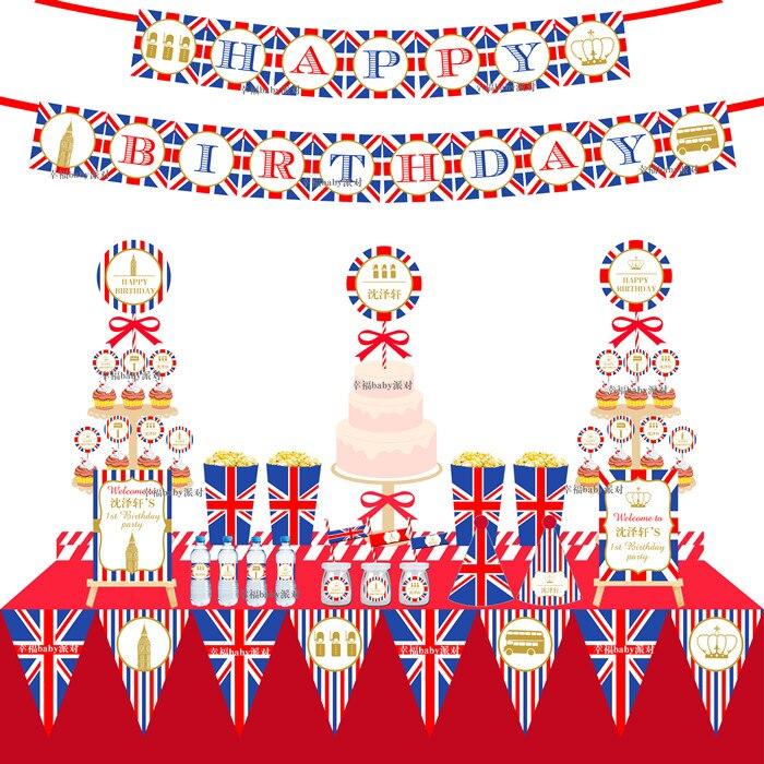 New Baby Shower Kids British Style Paris Tower Birthday