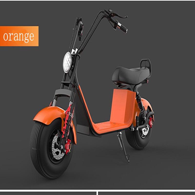 Moto électrique adulte Électrique Citycoco Scooter vélo électrique 60V20A 1500 W Double batterie au lithium Avec Deux-Roue - 4