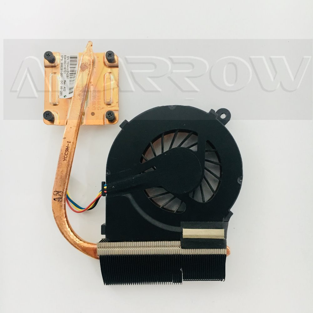New Original laptop heatsink cooling fan cpu cooler For HP CQ45 450 455 255 1000 2000 2000-BF G6-1B G6-1C G6-1D 688281-001 image