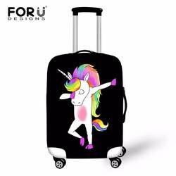 FORUDESIGNS Единорог Swag чемодан Крышка тележка чемодан Защитные Чехлы 18-28 эластичный багаж чехол дорожные аксессуары