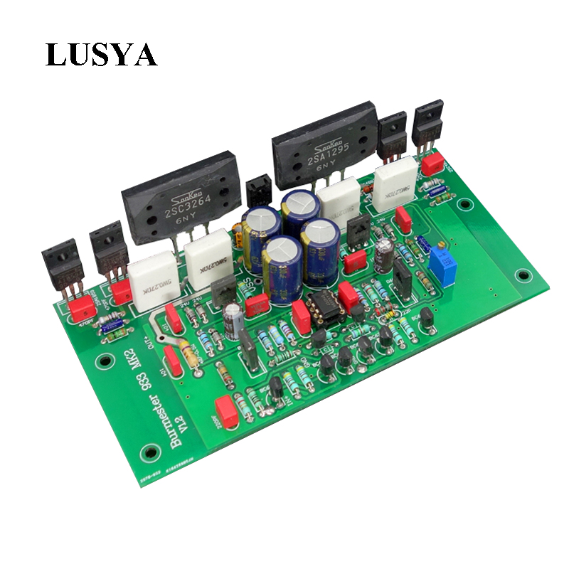все цены на Lusya 2pcs dual Channel Audio Power Amplifier board Base on Berlin Voice 933 Current DIY kits