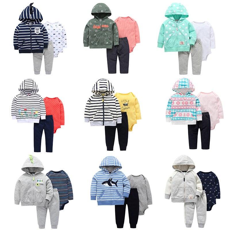 2018 infant baby outfits set/Sommer strampler + leggings + Hoodies/3 stücke set/Tiny aber Mighty/wenig kapitän/Whale