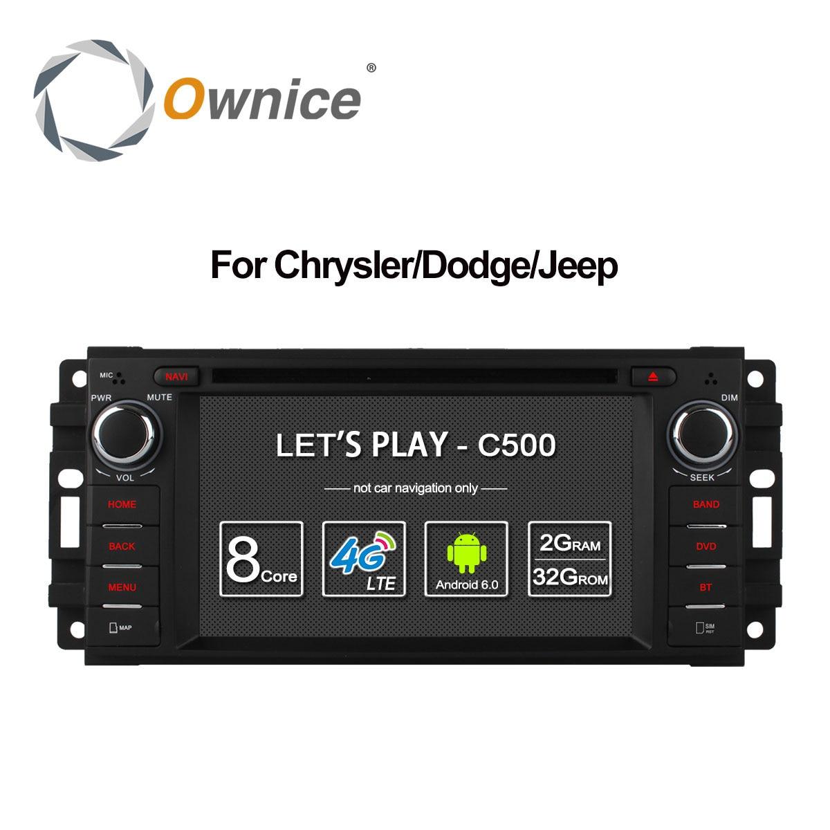 Ownice C500 Android 6.0 Octa Core car dvd player for Jeep grand wrangler 2015 patriot compass journey gps navi radio 4G LTE SIM ownice c500 4g sim lte octa 8 core android 6 0 for kia ceed 2013 2015 car dvd player gps navi radio wifi 4g bt 2gb ram 32g rom
