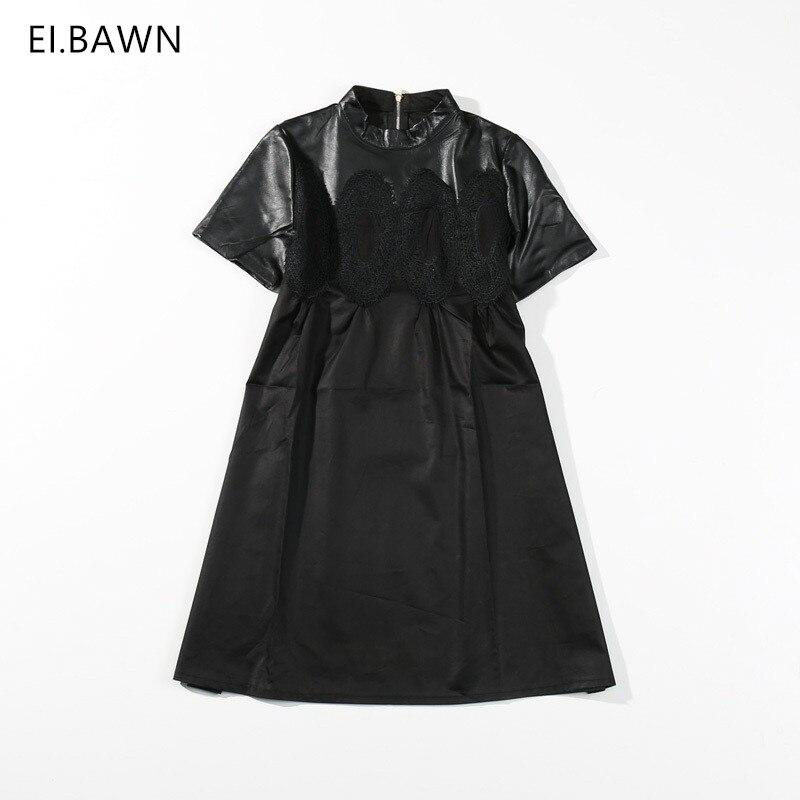 2018 Новое весеннее Платье женское черное кожаное Макси карандаш трапециевидной формы Длинные Короткие с высокой талией Плюс Размер Повседн
