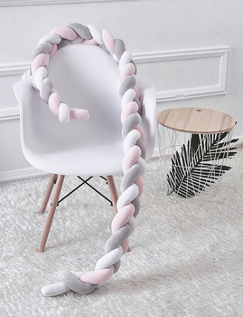 Creative Knotted Pillow 200cm Baby Crib BumperLong Knotted Braid Weaving Plush Protector Modern Simply Knotted Throw Pillow фото