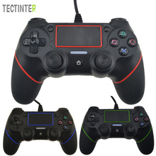 USB-проводной контроллер для PS4 Playstation Dualshock Sony Gamepads Джойстик Joypad Controle Multiple Vibration для ПК
