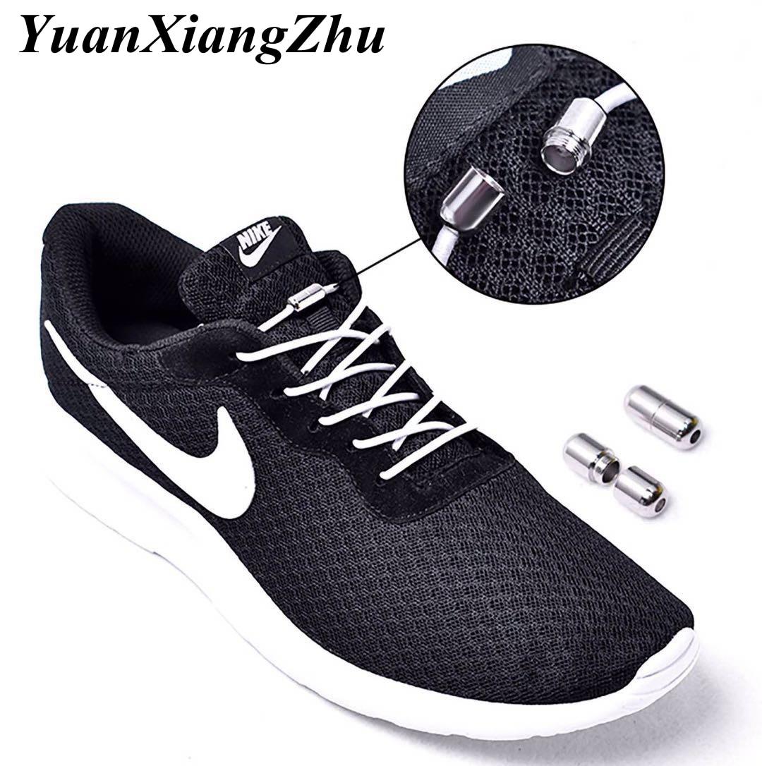 1Pair No Tie Shoelaces Elastic Locking Round Shoe Laces Kids Adult Sneakers Shoelaces Lazy Quick Shoe Lace Strings 25 Color T3-1