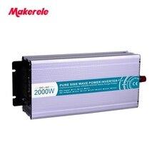 2000w solar inverter 12/24/48v 110/220v Fan Cooling off grid Output Waveform pure sine wave USB Output 5V 500mA Makerele стоимость