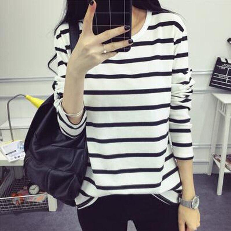 New Fashion T-shirt Women Long Sleeve O