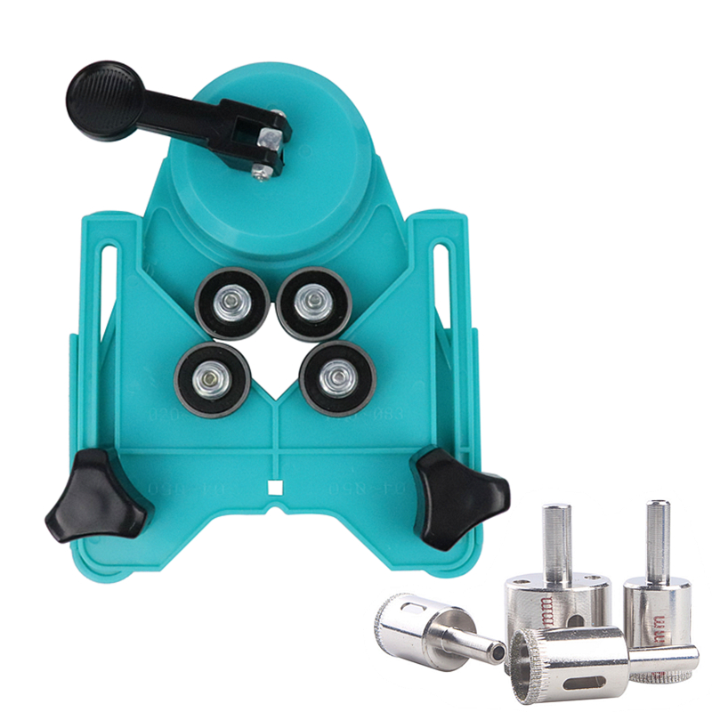 9pcs Adjustable 4 83mm Ceramic Drill Guide Tile Glass Openings Locator Hole Saw Sucker Base With Diamond Drill Bit Accessories
